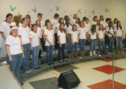 Cassie and her Choir, 2007 Holiday Concert