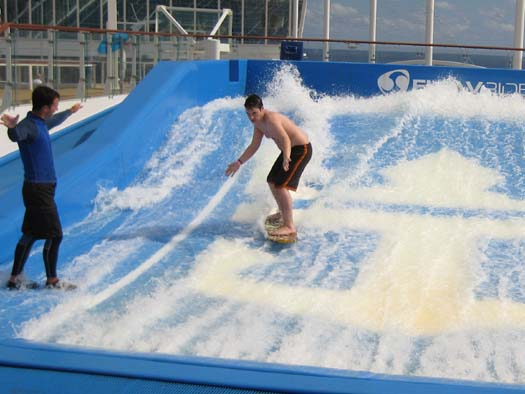 Oasis of the Seas Pictures - FlowRider (Stand-Up)