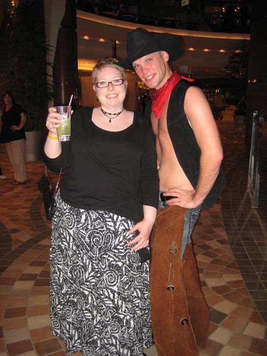 Oasis of the Seas Pictures - Cassie posing with the Cowboy she danced with
