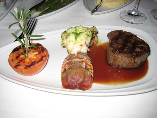 Oasis of the Seas Pictures - Food : Lobster Tail, Filet Mignon