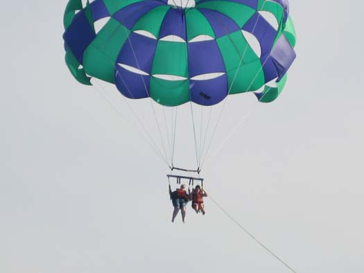 Oasis of the Seas Pictures - Cassie and me Parasailing!