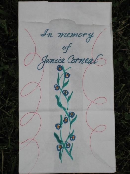 Relay For Life 2010 - Luminaria: Janice Corneal